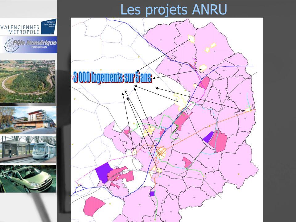 Les projets ANRU 2007 - 2013