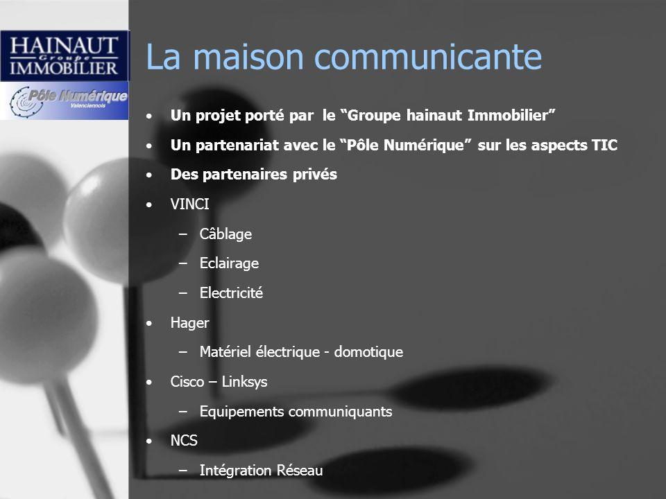La maison communicante Un projet porté par le Groupe hainaut Immobilier Un partenariat avec le Pôle Numérique sur les aspects TIC Des partenaires priv