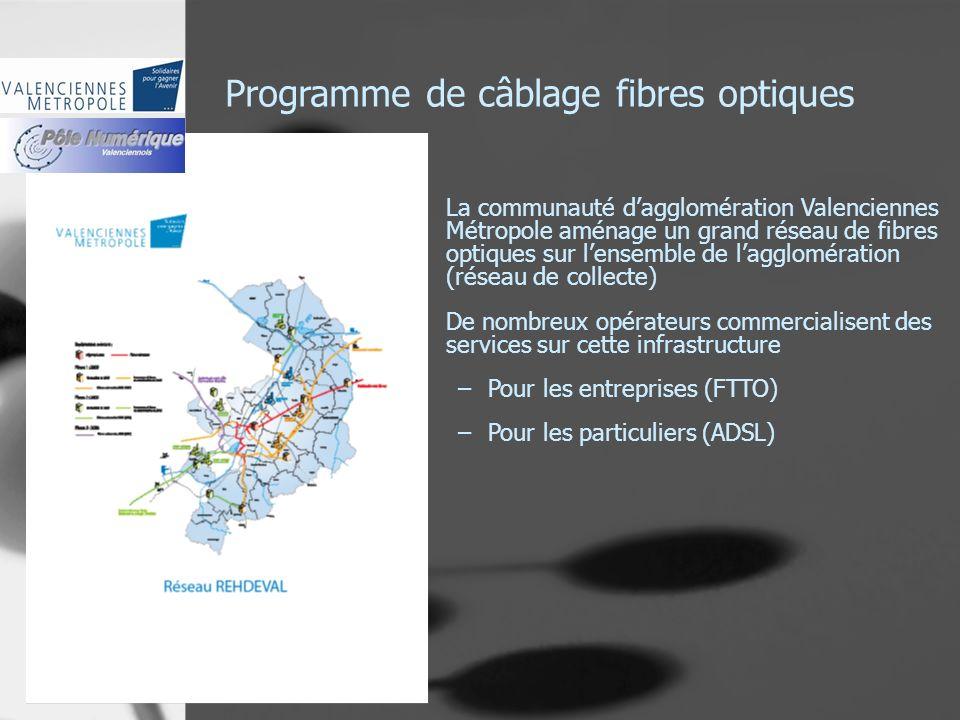 Programme de câblage fibres optiques La communauté dagglomération Valenciennes Métropole aménage un grand réseau de fibres optiques sur lensemble de l