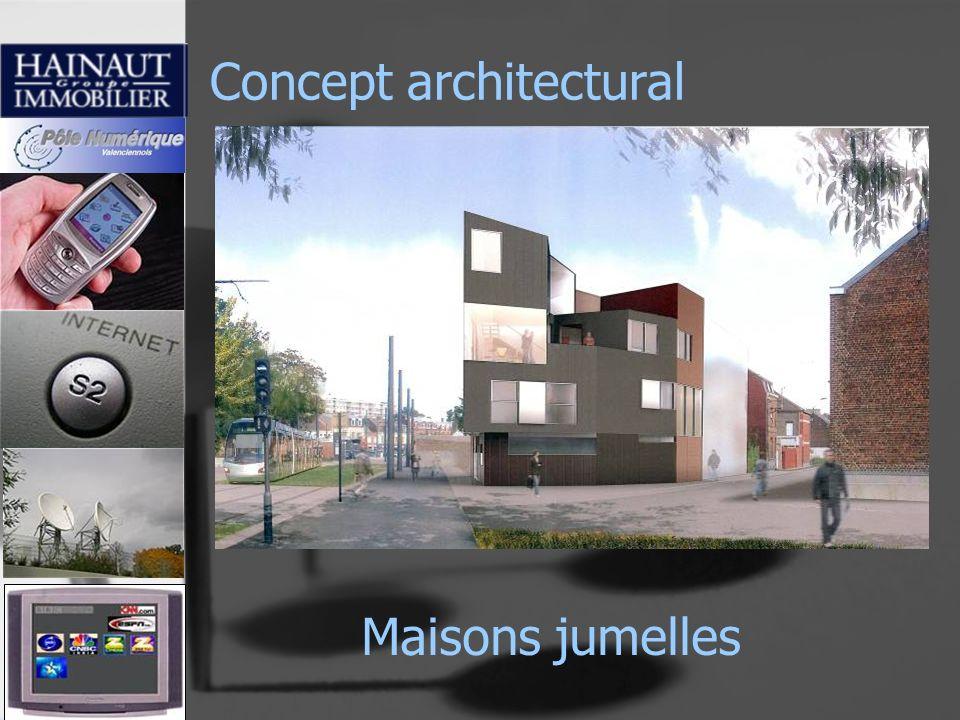 Concept architectural Maisons jumelles