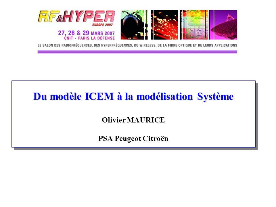 Présentation des techniques de CEM système Lien entre le modèle ICEM d un microprocesseur bruyant et la CEM au niveau système Introduction de techniques d analyse tensorielle des réseaux, et leurs différentes approches.