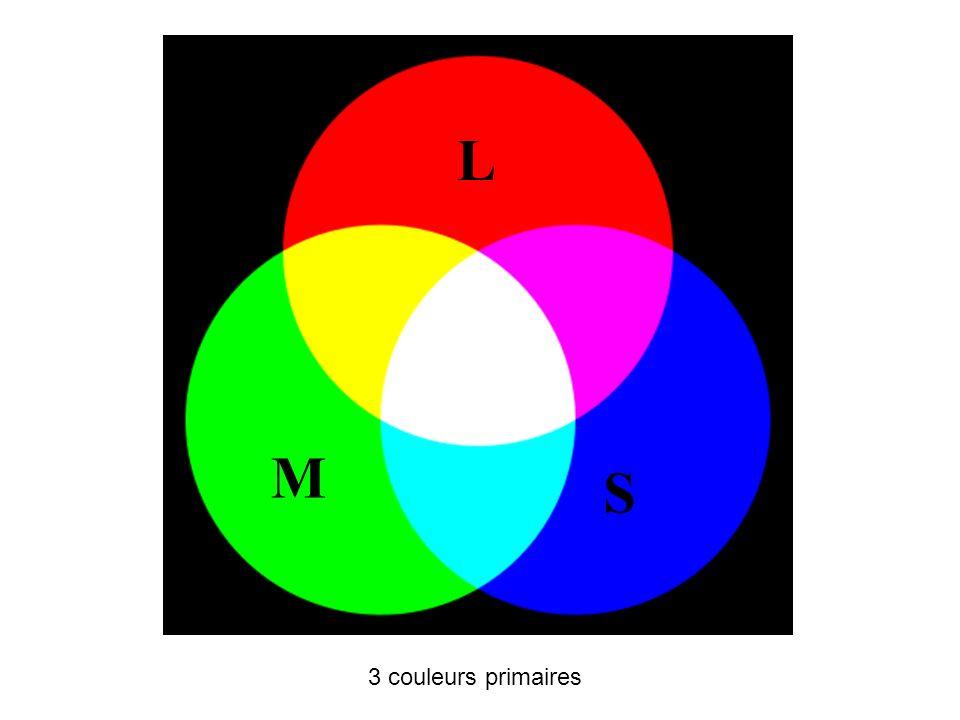 3 couleurs primaires L M S