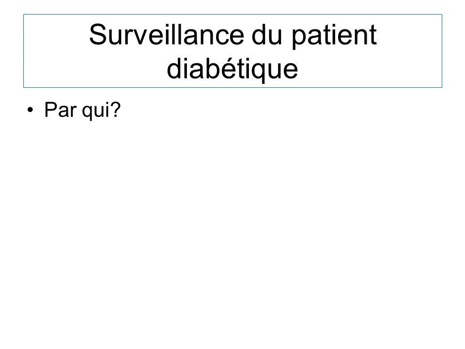 Surveillance du patient diabétique Par qui?