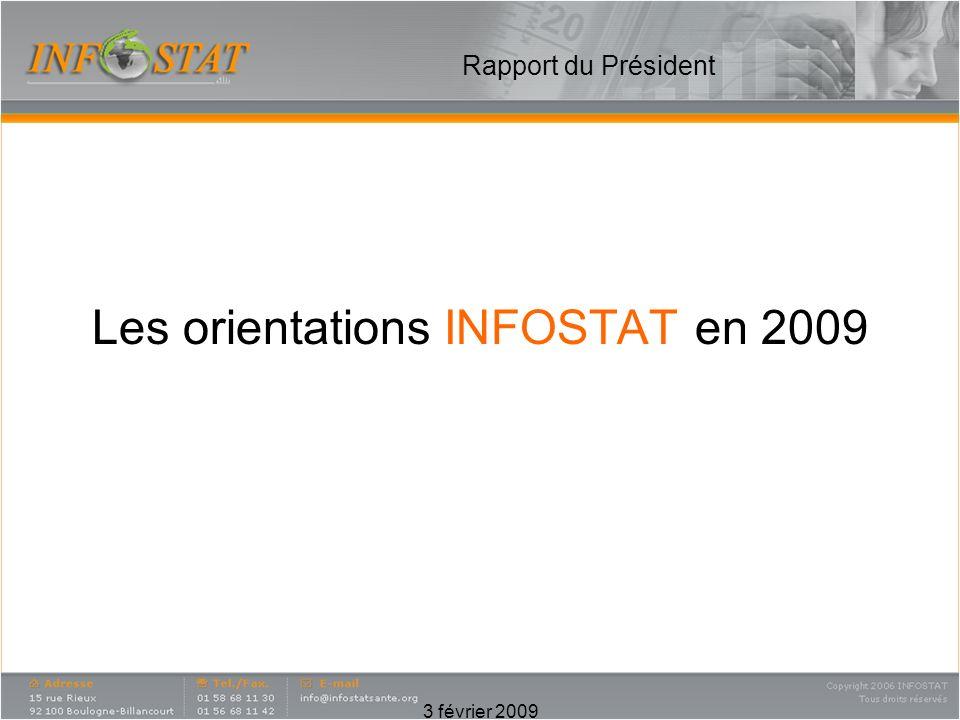 3 février 2009 Rapport du Président Les orientations INFOSTAT en 2009
