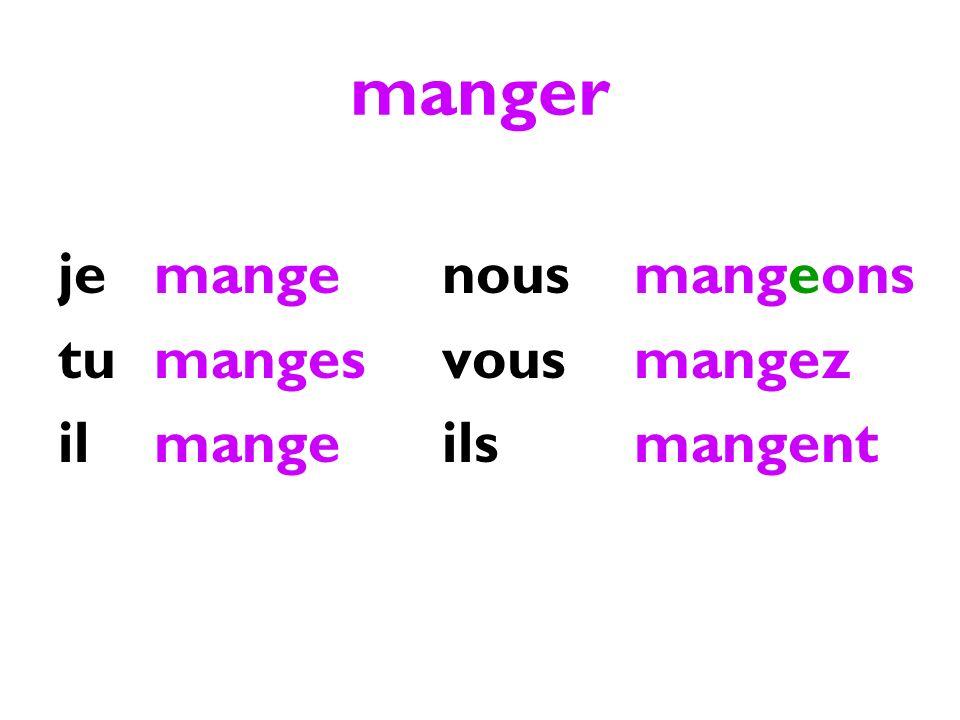 les verbes -ir exemple: finir jeis tuis ilit nousissons vousissez ils issent
