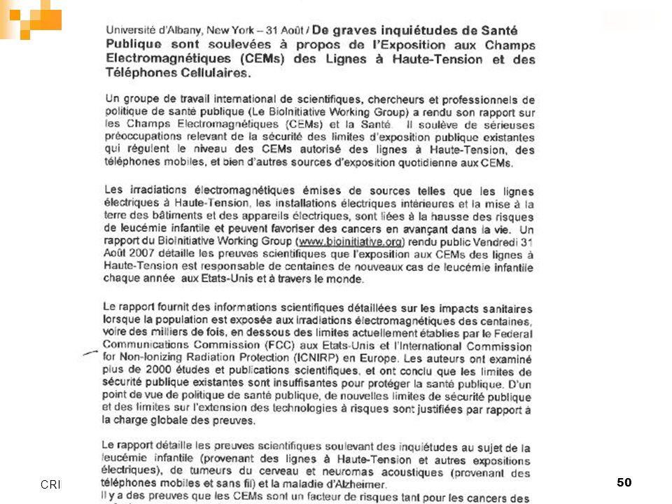 Valence, le 26 janvier 200650 CRIIREM