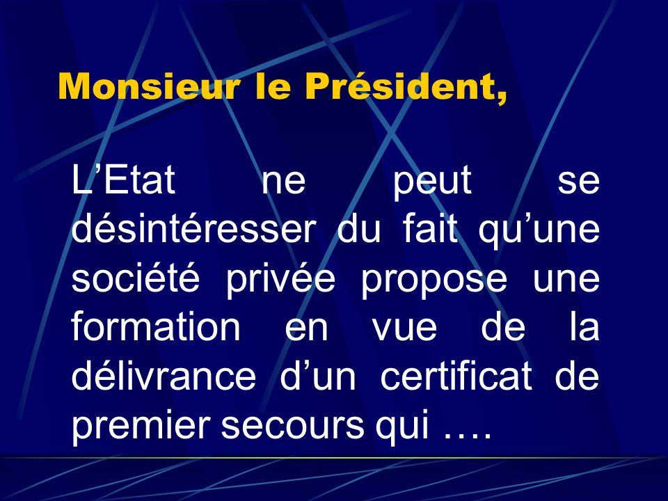 Courrier du 18 juillet 2001 Le Ministre de lIntérieur à monsieur le Président de la FFESSM