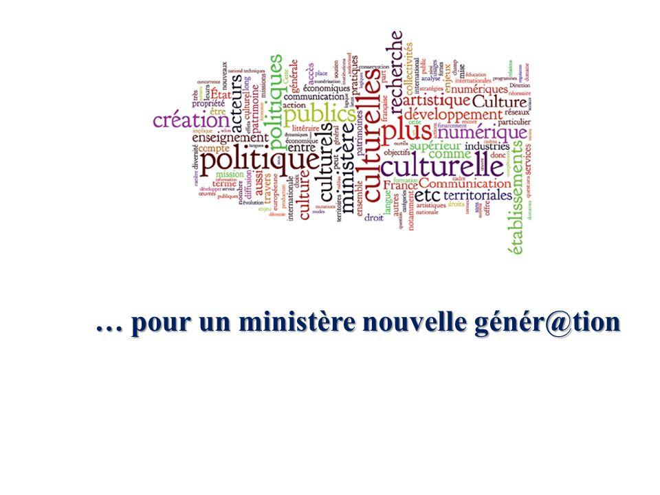 … pour un ministère nouvelle génér@tion