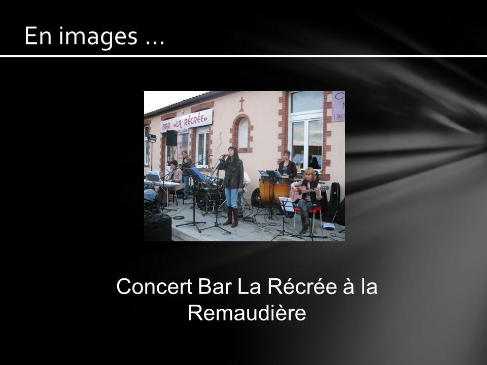 Concert Bar « La récrée » le 15 mai à la Remaudière (Erratum, PopeLine et Mr Spot).