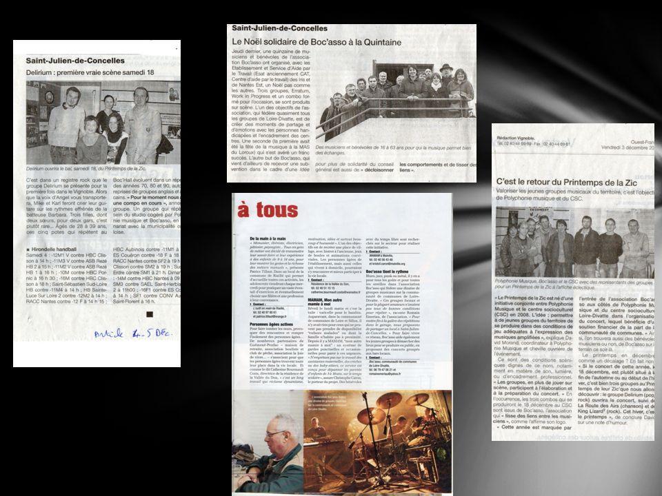 Quelques articles de presse :