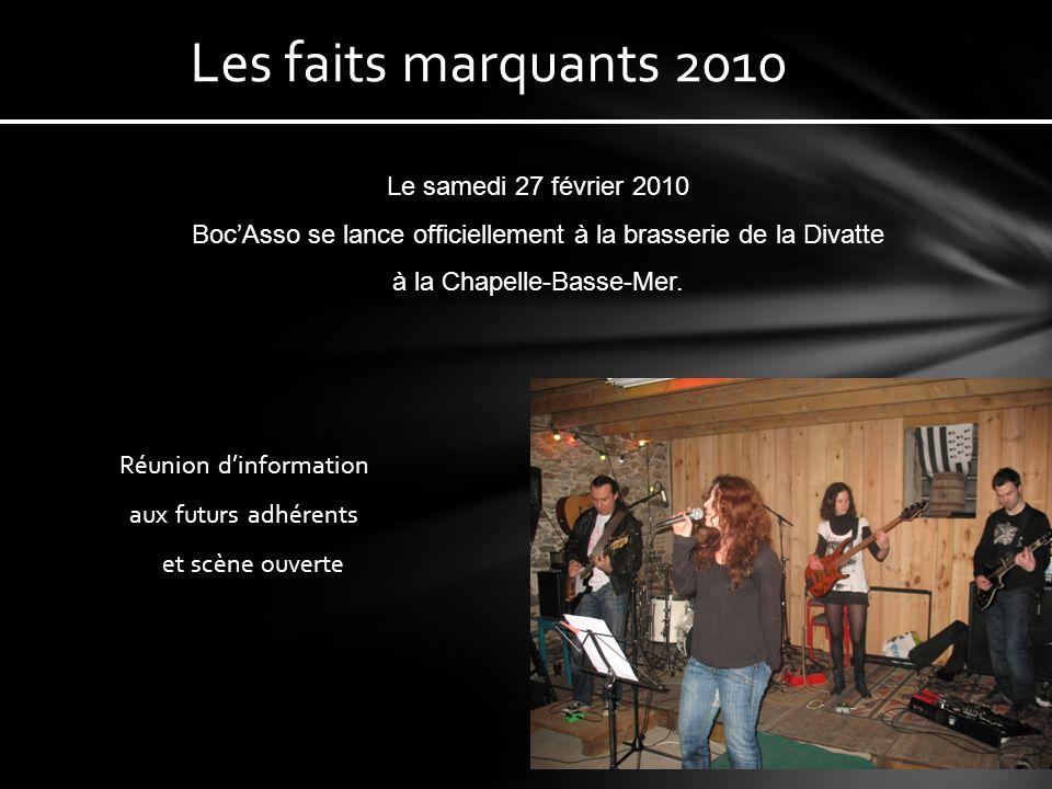 70 adhérents sur le canton Et une douzaine de groupes Une équipe dynamique Des rencontres musicales régulières BocAsso, cest aussi…