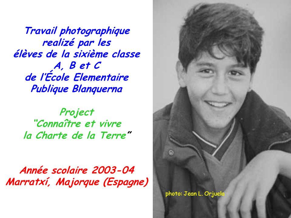Travail photographique realizé par les élèves de la sixième classe A, B et C de lÉcole Elementaire Publique Blanquerna Project Connaître et vivre la C
