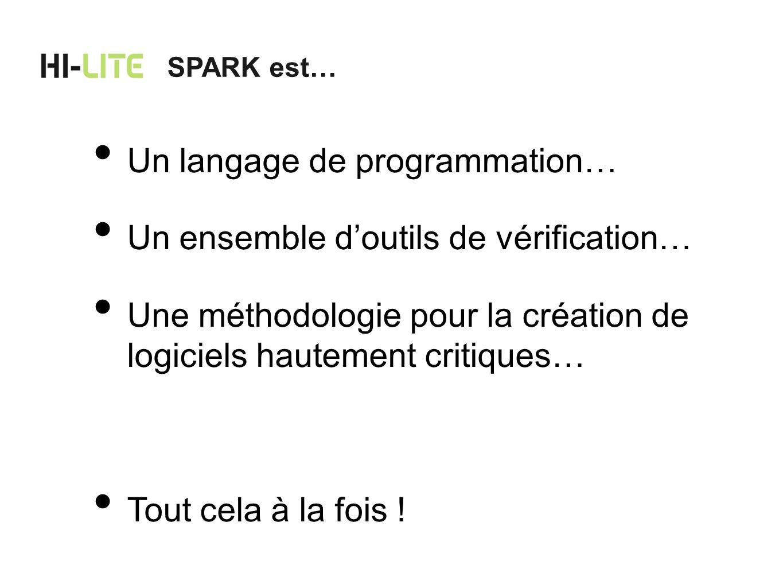 Le rôle de SPARK dans Hi-Lite