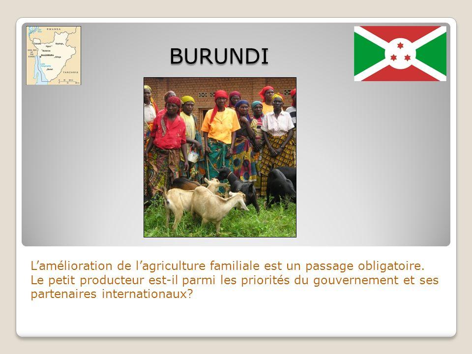Lamélioration de lagriculture familiale est un passage obligatoire. Le petit producteur est-il parmi les priorités du gouvernement et ses partenaires