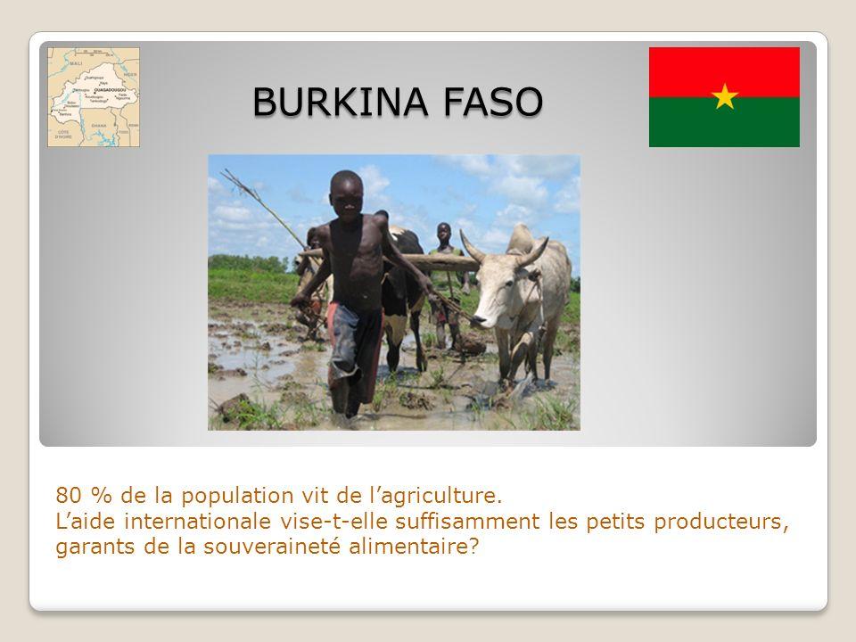 80 % de la population vit de lagriculture. Laide internationale vise-t-elle suffisamment les petits producteurs, garants de la souveraineté alimentair