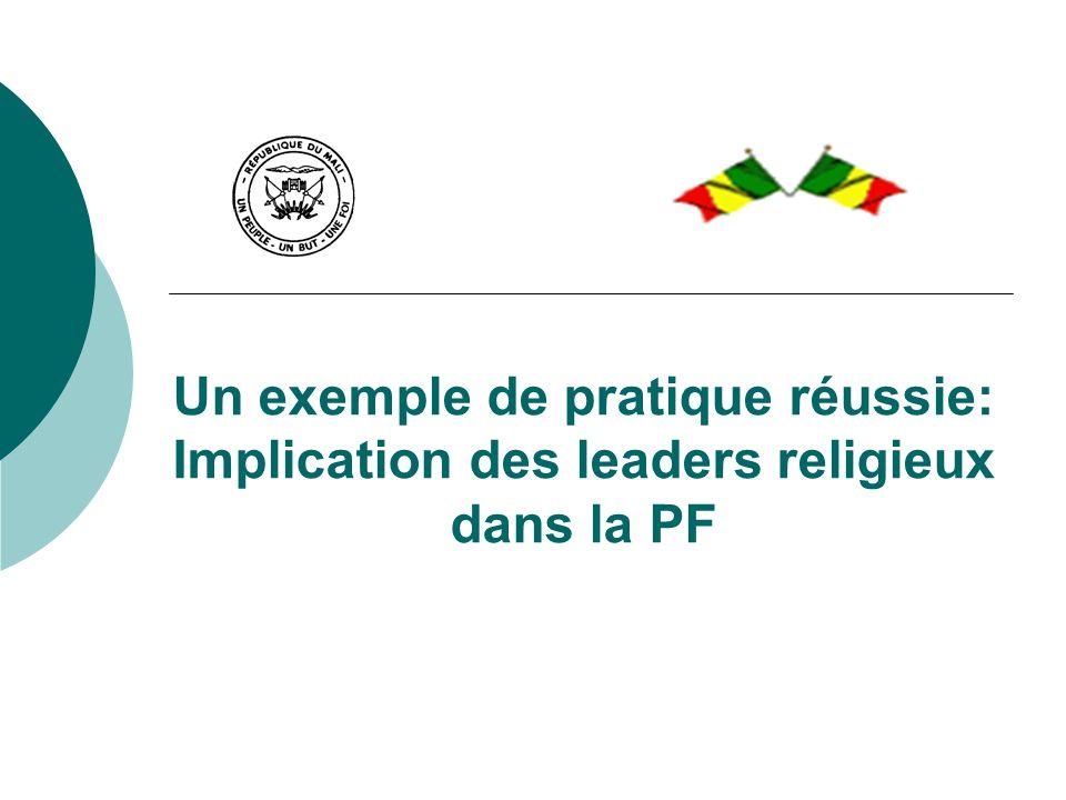 Un exemple de pratique réussie: Implication des leaders religieux dans la PF