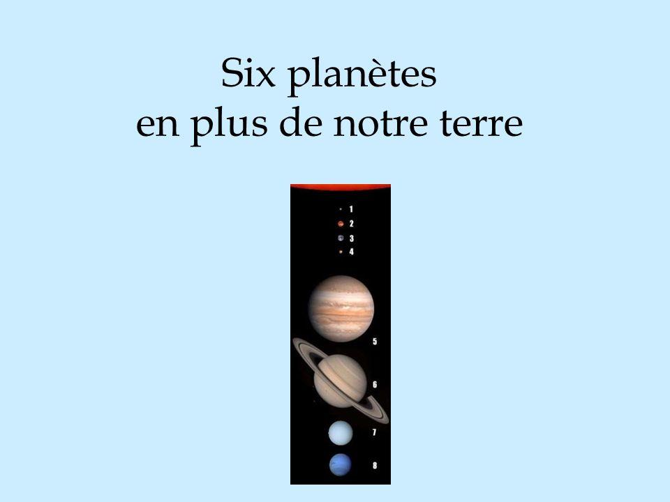 Six planètes en plus de notre terre