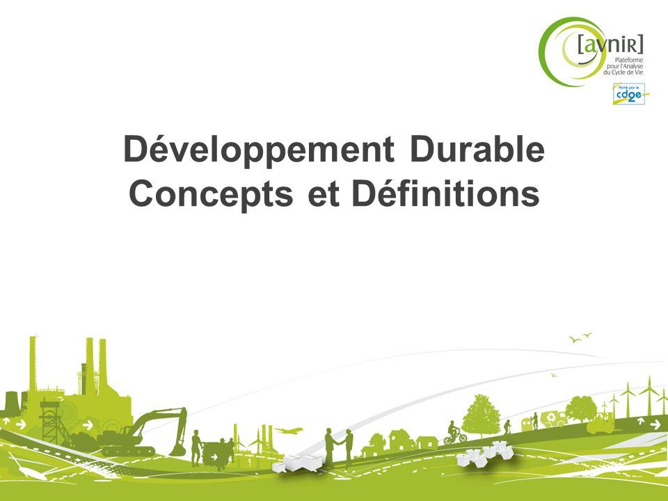 Quest ce que le Développement Durable.