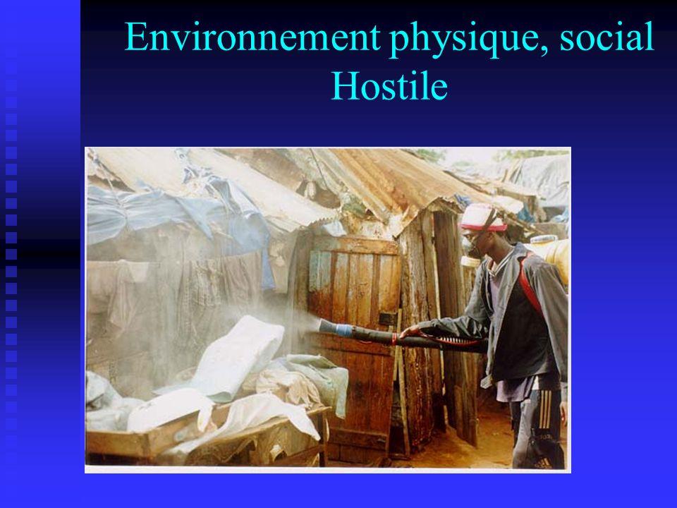 Environnement physique, social Hostile