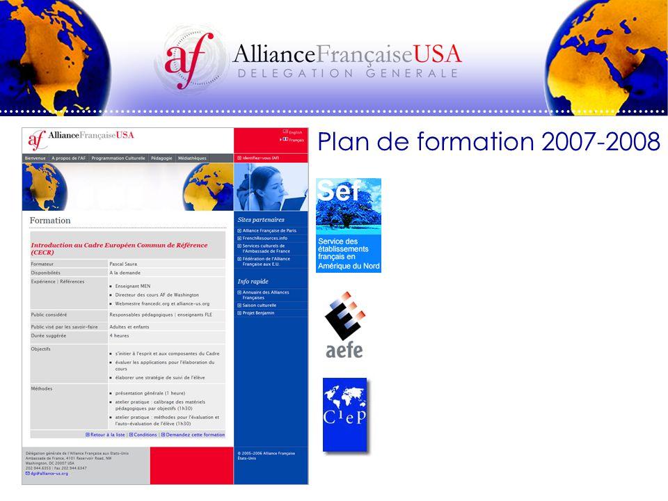Plan de formation 2007-2008