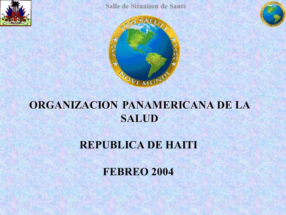 Salle de Situation de Santé ORGANIZACION PANAMERICANA DE LA SALUD REPUBLICA DE HAITI FEBREO 2004
