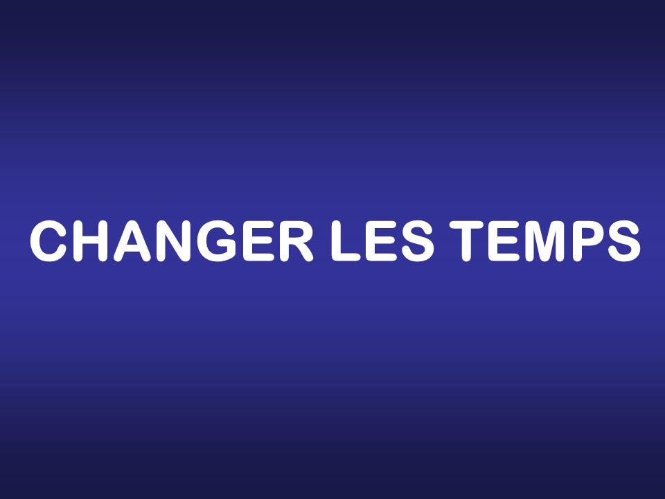 CHANGER LES TEMPS
