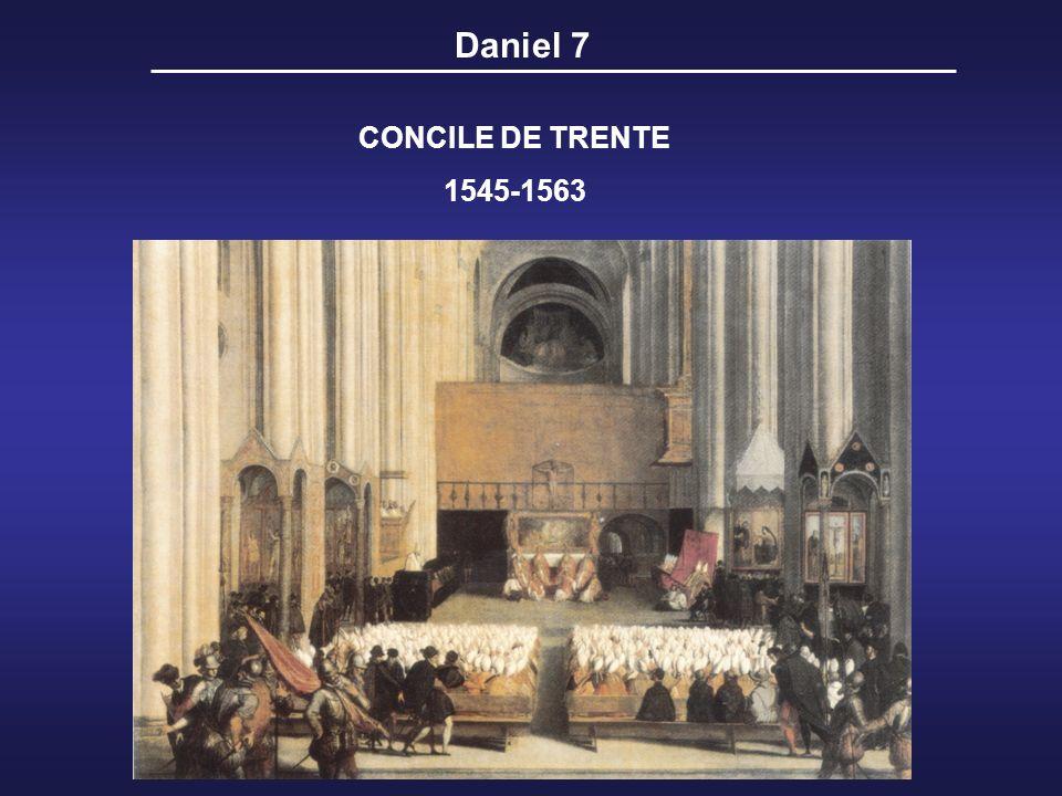 CONCILE DE TRENTE 1545-1563