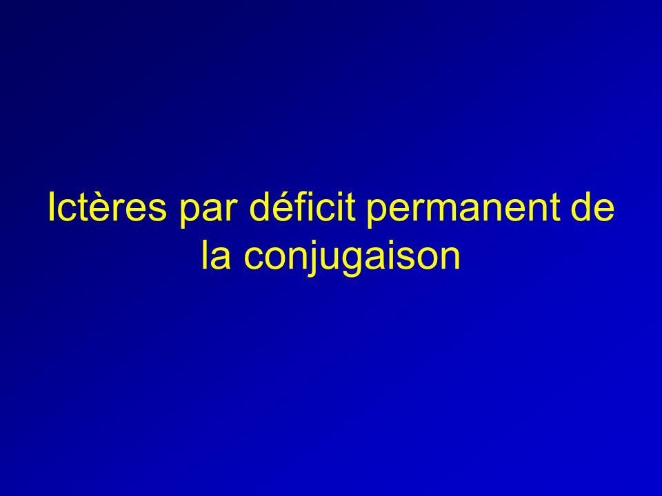 Ictères par déficit permanent de la conjugaison