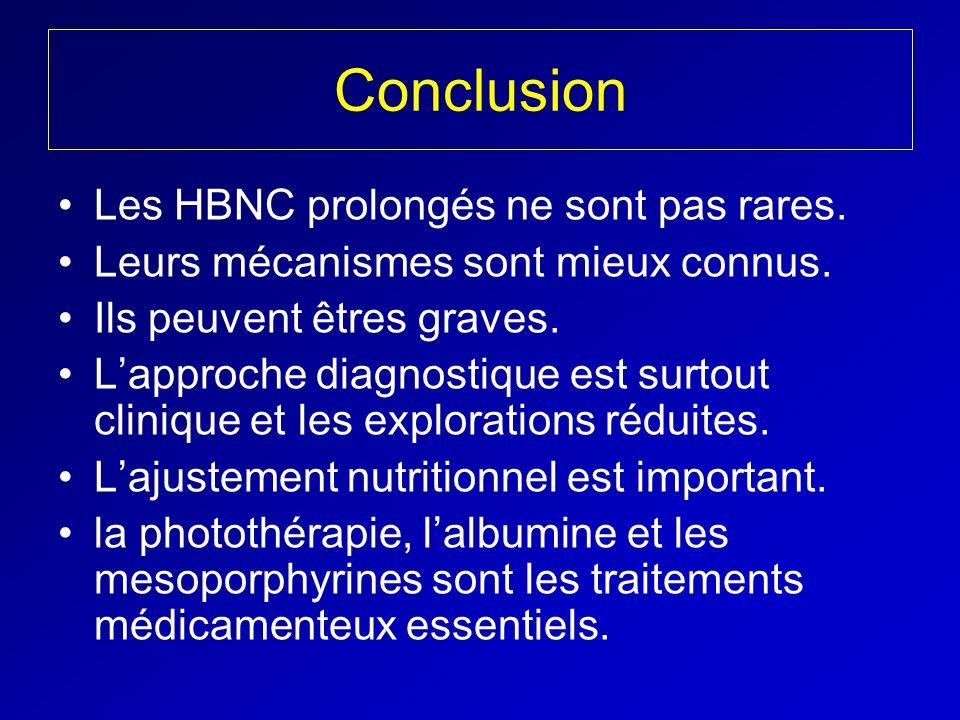 Conclusion Les HBNC prolongés ne sont pas rares. Leurs mécanismes sont mieux connus. Ils peuvent êtres graves. Lapproche diagnostique est surtout clin