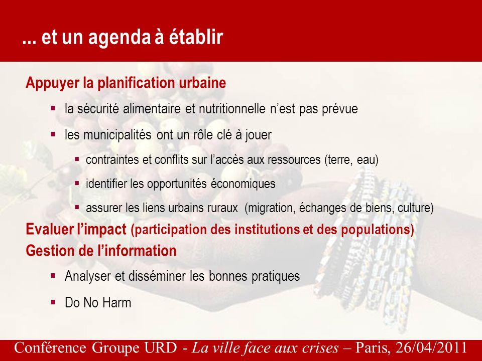 Conférence Groupe URD - La ville face aux crises – Paris, 26/04/2011...