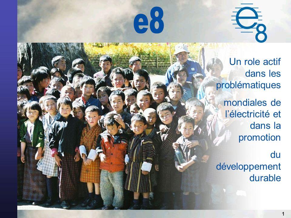 1 Un role actif dans les problématiques mondiales de lélectricité et dans la promotion du développement durable