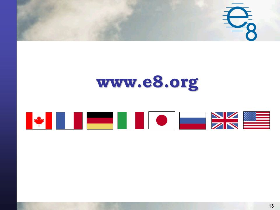 13 www.e8.org