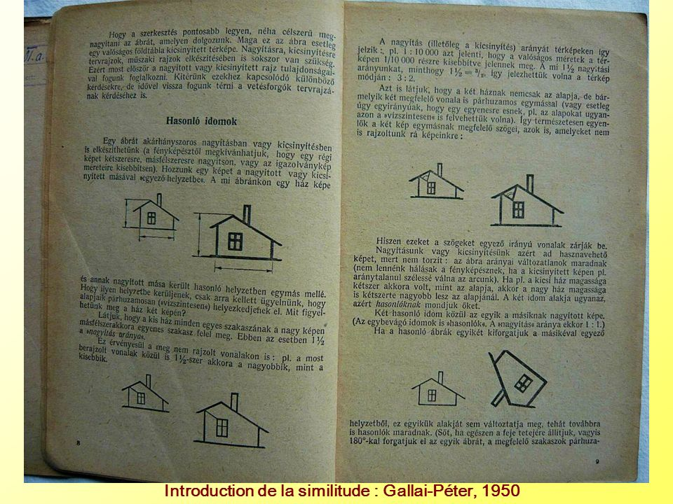 Introduction de la similitude : Gallai-Péter, 1950