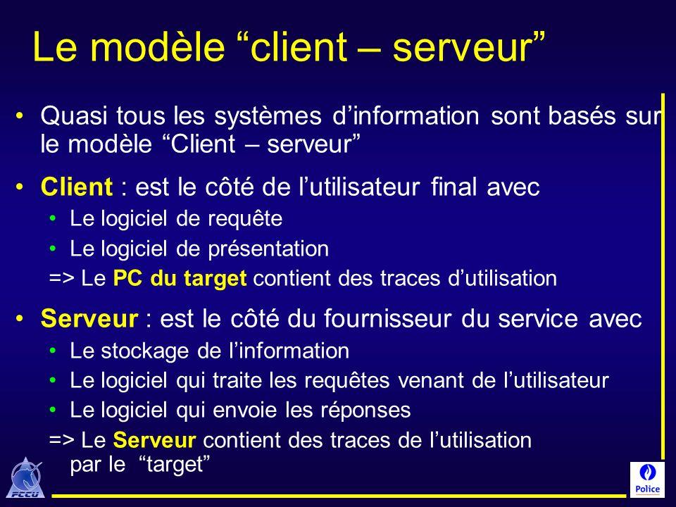 Le modèle client – serveur Quasi tous les systèmes dinformation sont basés sur le modèle Client – serveur Client : est le côté de lutilisateur final a