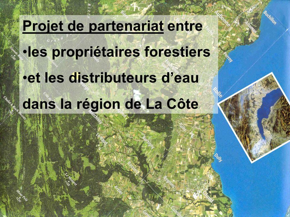 Projet de partenariat entre les propriétaires forestiers et les distributeurs deau dans la région de La Côte