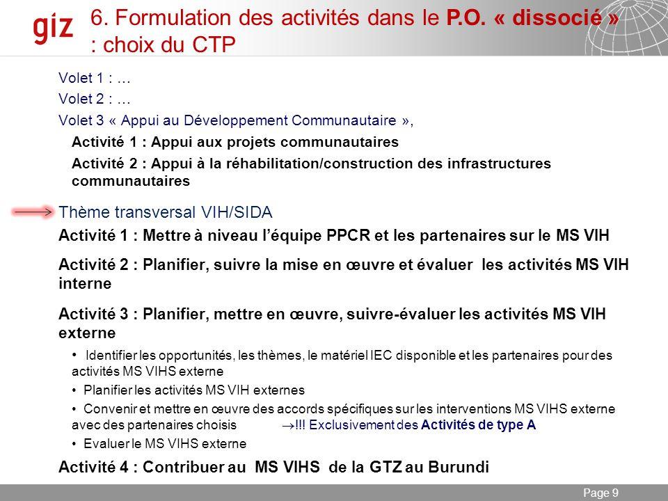 03.01.2014 Seite 10 Page 10 7.Constats « - » et « + » (par étapes) - Le 1 ier P.O.