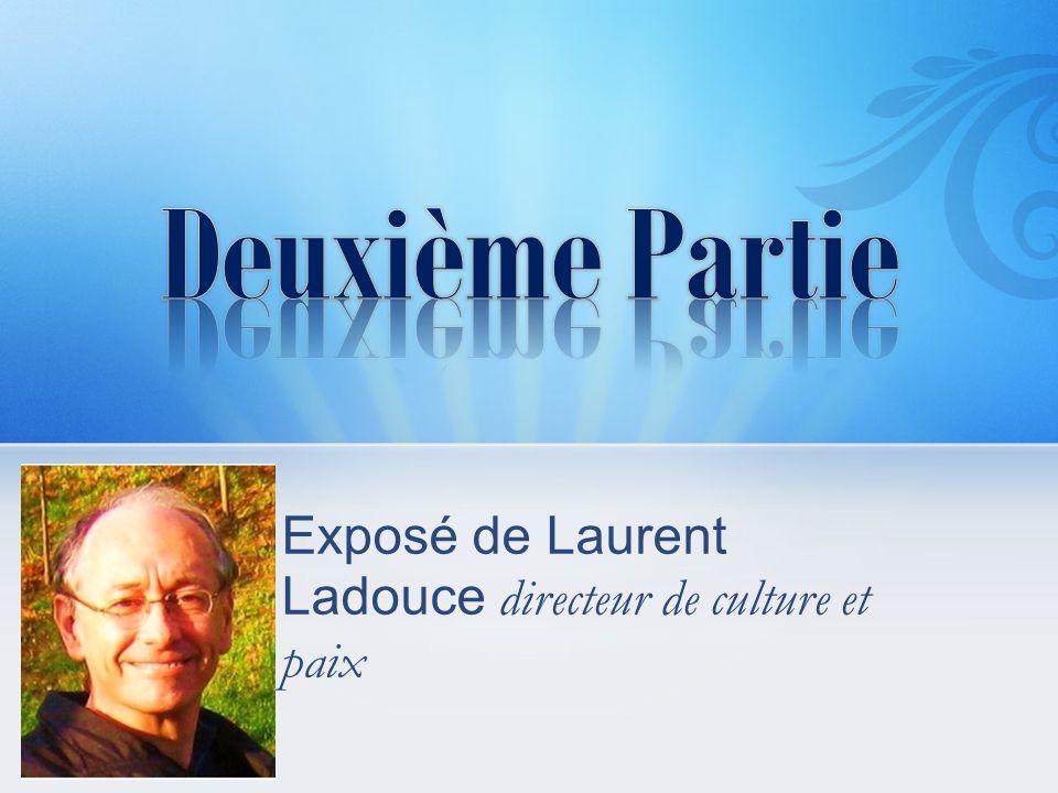 Exposé de Laurent Ladouce directeur de culture et paix