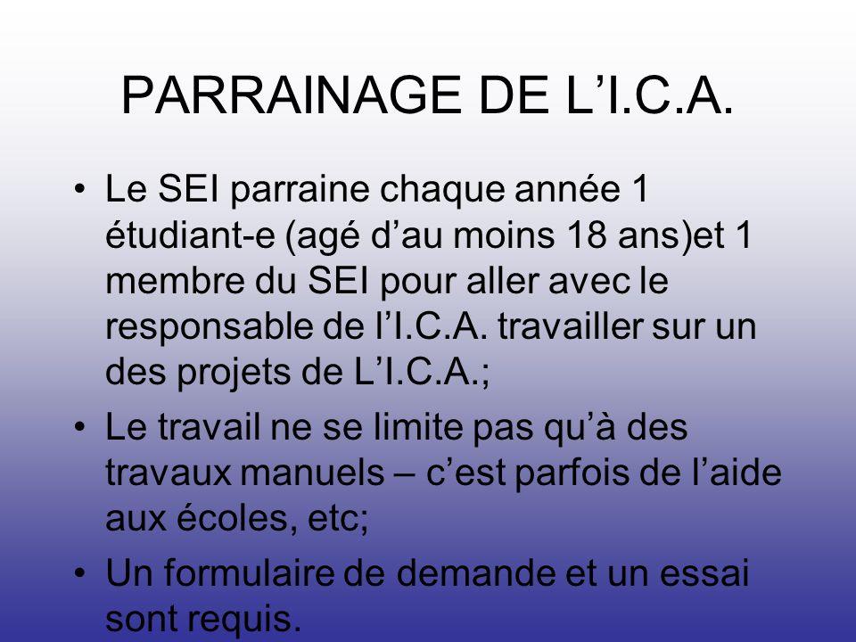 PARRAINAGE DE LI.C.A.