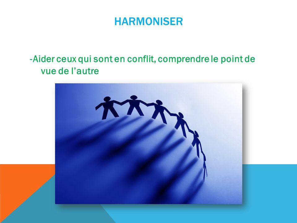 HARMONISER -Aider ceux qui sont en conflit, comprendre le point de vue de lautre