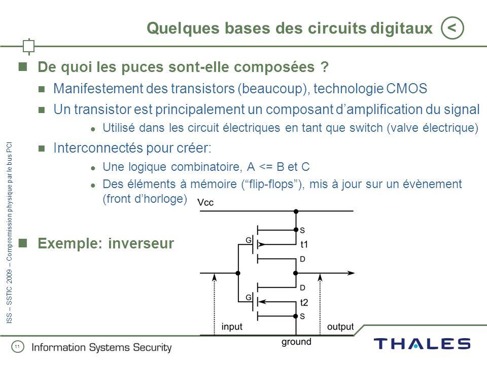 10 < ISS – SSTIC 2009 – Compromission physique par le bus PCI À la recherche de la documentation Les spécifications PCI et PC Card sont payantes Specs