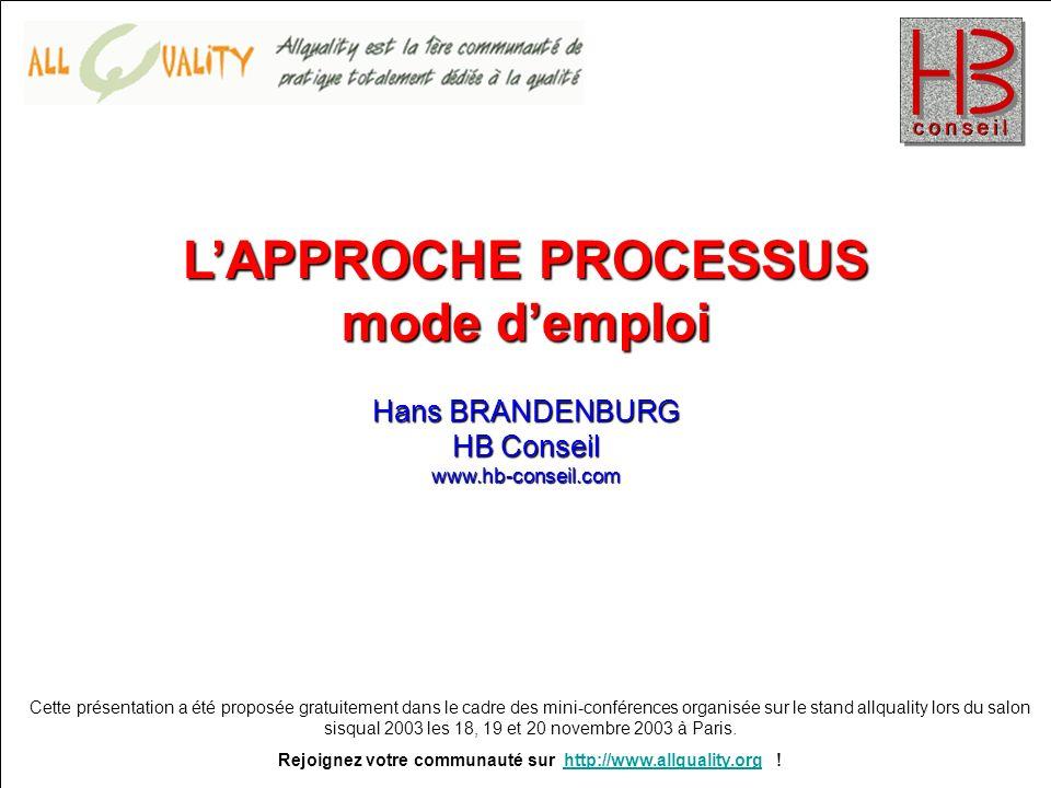 PRESENTATION GRATUITE A 14H00 Hans BRANDENBURG HB Conseil www.hb-conseil.com Prix de vente spécial salon : 33