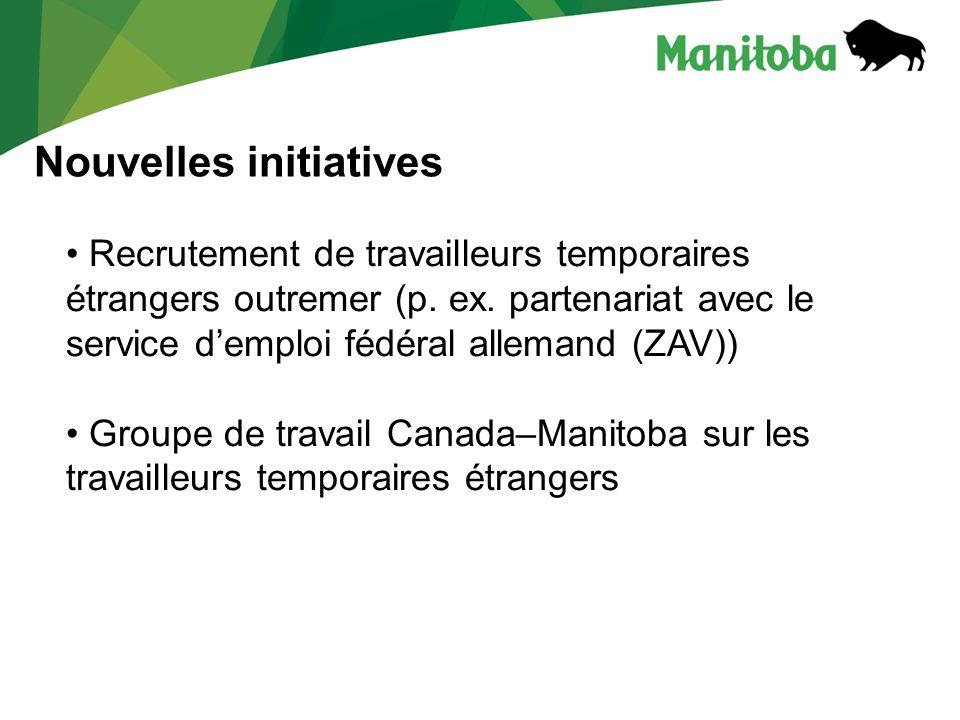 Nouvelles initiatives Recrutement de travailleurs temporaires étrangers outremer (p.