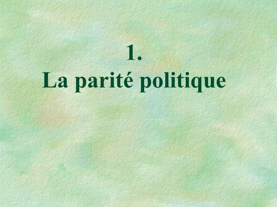 1. La parité politique