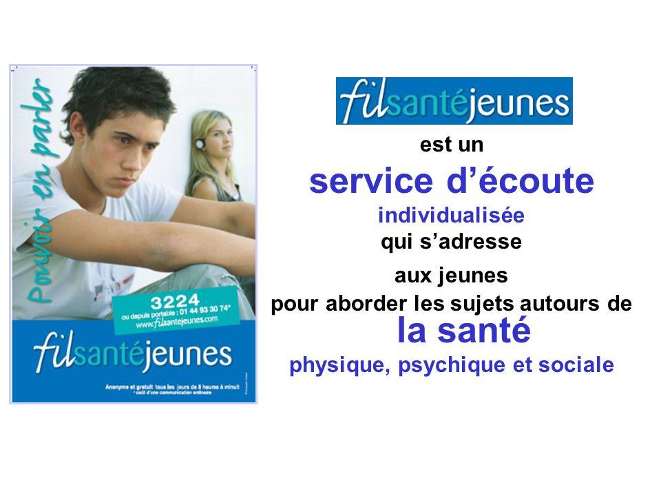 est un service découte individualisée qui sadresse aux jeunes pour aborder les sujets autours de la santé physique, psychique et sociale