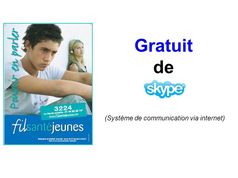 Gratuit de (Système de communication via internet)