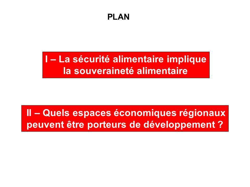 PLAN II – Quels espaces économiques régionaux peuvent être porteurs de développement .