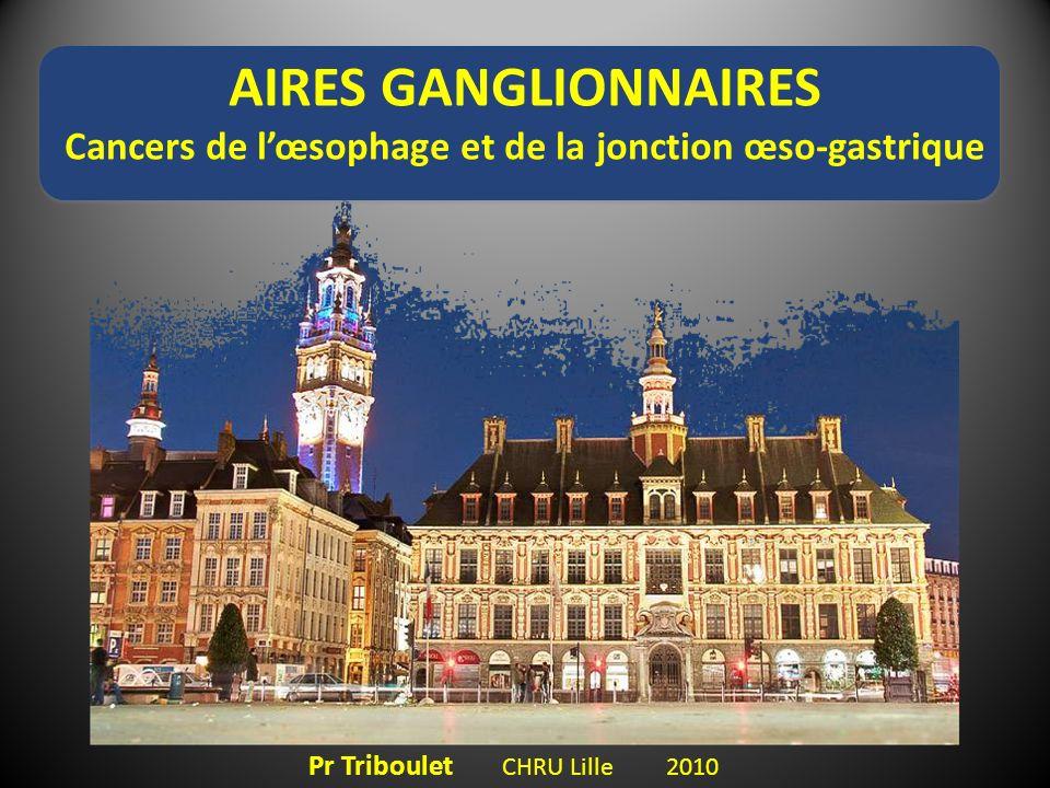 AIRES GANGLIONNAIRES Cancers de lœsophage et de la jonction œso-gastrique Pr Triboulet CHRU Lille 2010