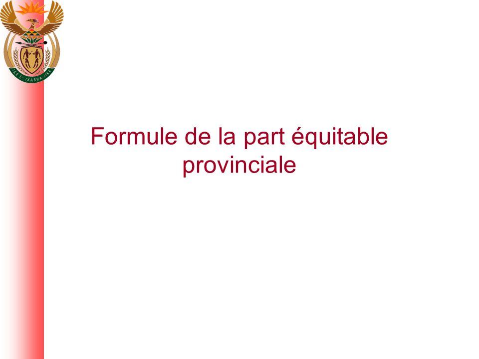 Formule de la part équitable provinciale