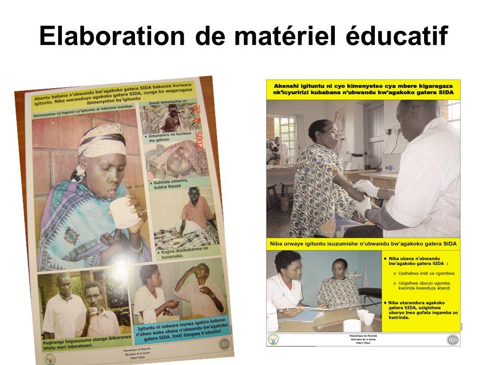 Elaboration de matériel éducatif