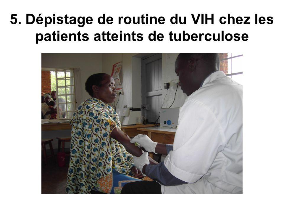 5. Dépistage de routine du VIH chez les patients atteints de tuberculose